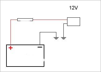 Схема подключения к аккумулятору