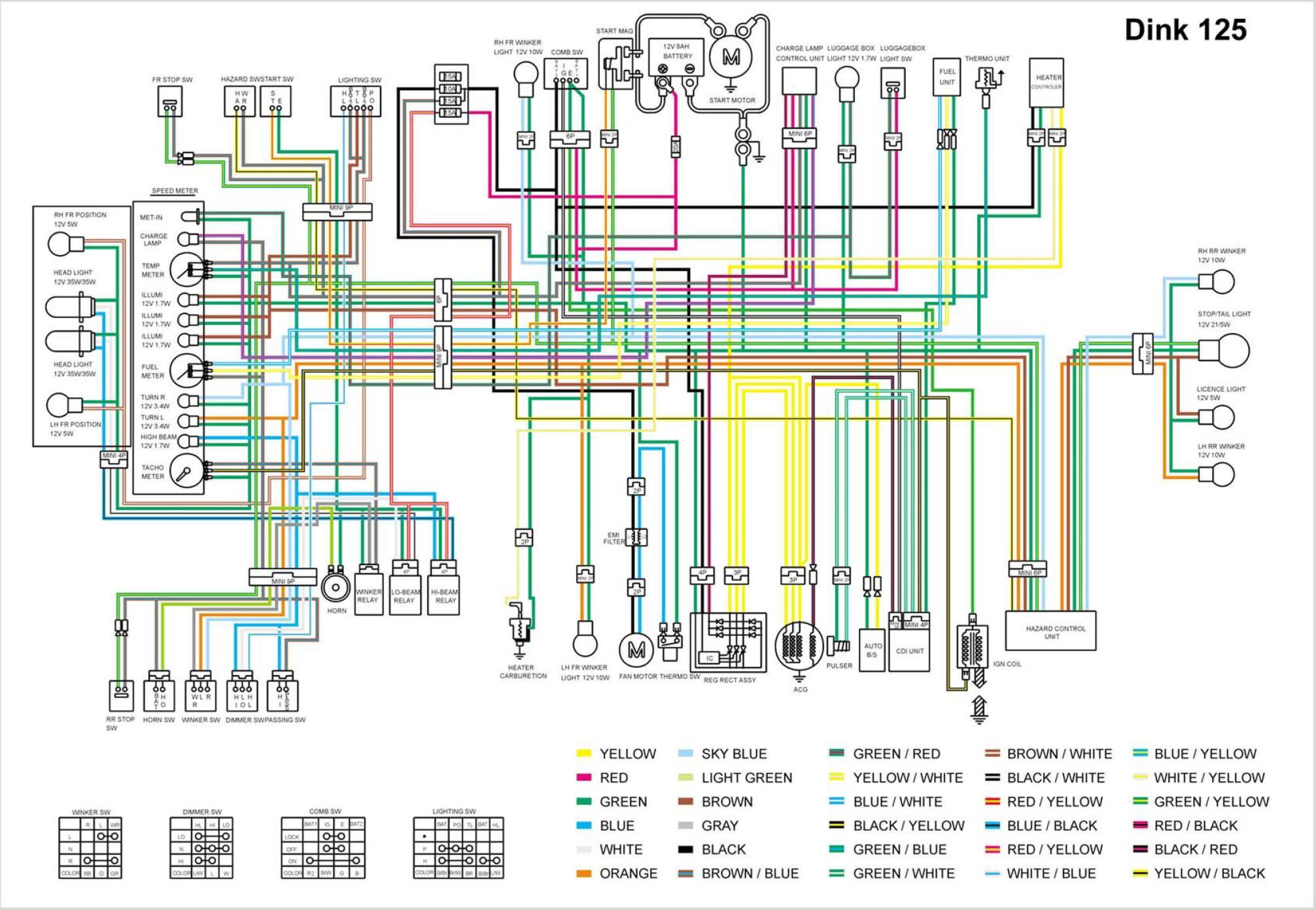 монтажная схема электропроводки мотороллера тула