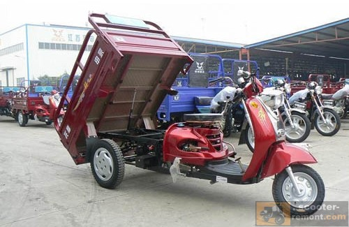 Грузовой скутер китайского производства