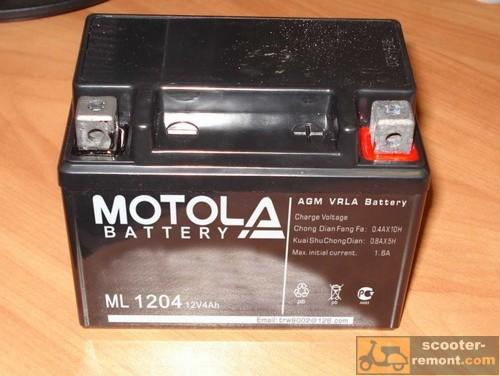 6 вольтовый аккумулятор honda dio