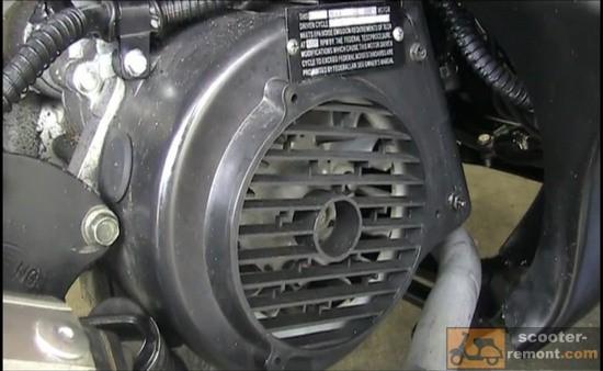 Кожух двигателя со стороны генератора