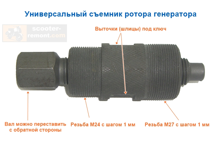 Универсальный съемник ротора генератора