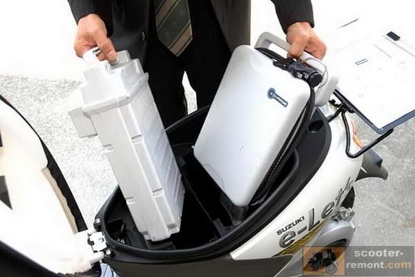 Suzuki E Lets - выносной аккумулятор