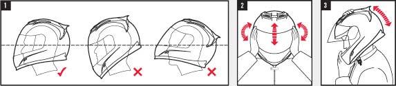 Проверка шлема на голове
