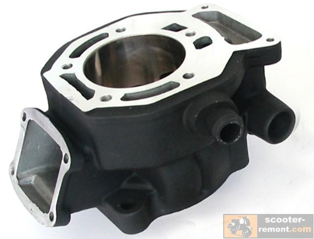 Цилиндр двигателя жидкостного охлаждения