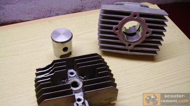 Цилиндр двигателя воздушного охлаждения