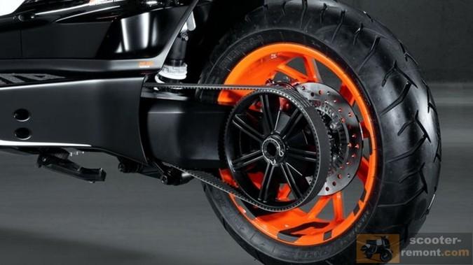 Ременной привод скутера KTM E-Speed
