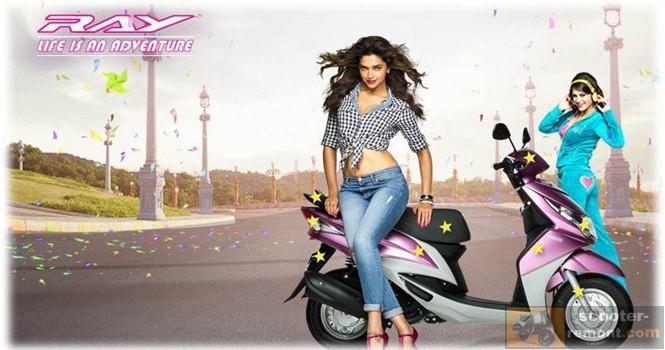 Реклама скутера Yamaha Ray