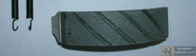 Тормозная накладка на колодке