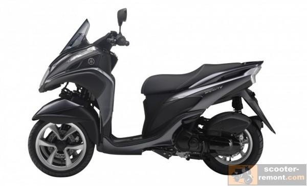 Трехколесный скутер Yamaha Tricity 125 - вид слева