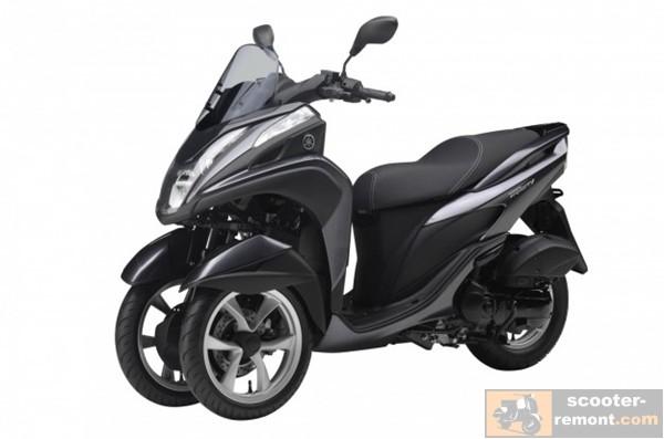 Презентация трехколесного скутера Yamaha Tricity 125