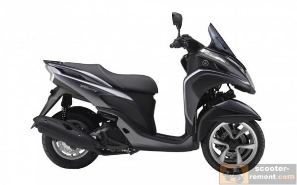 Yamaha Tricity 125 вид справа