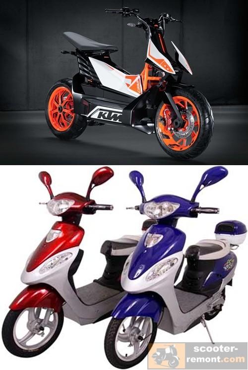 Электроскутер KTM и китайские модели