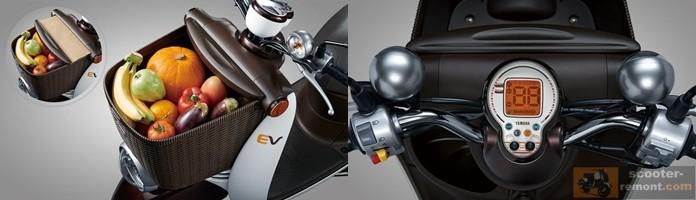 Корзина и дисплей Yamaha e-Vino