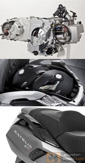 Двигатель и багажник Peugeot Satelis 2 400i
