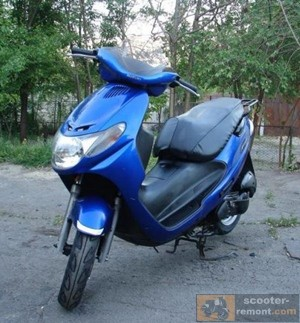 Популярная модель скутера Suzuki Address 110