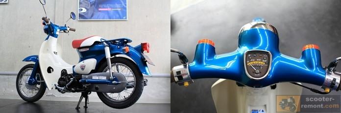 Приборка, поворотники и внешний облик ограниченного Honda Cub