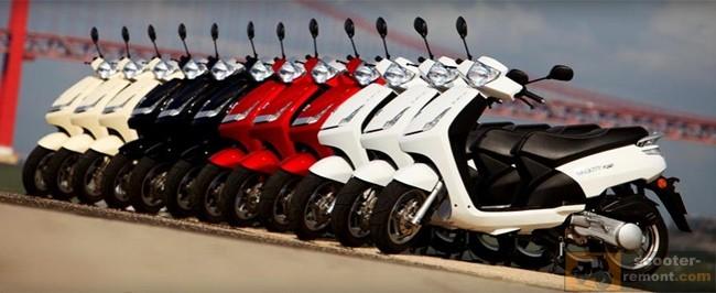 Скутеры Пежо с конвеера