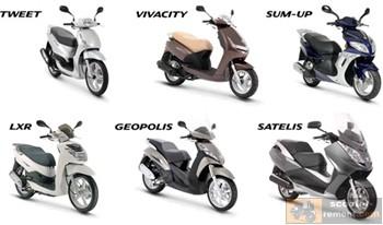 Модельный ряд скутеров Пежо
