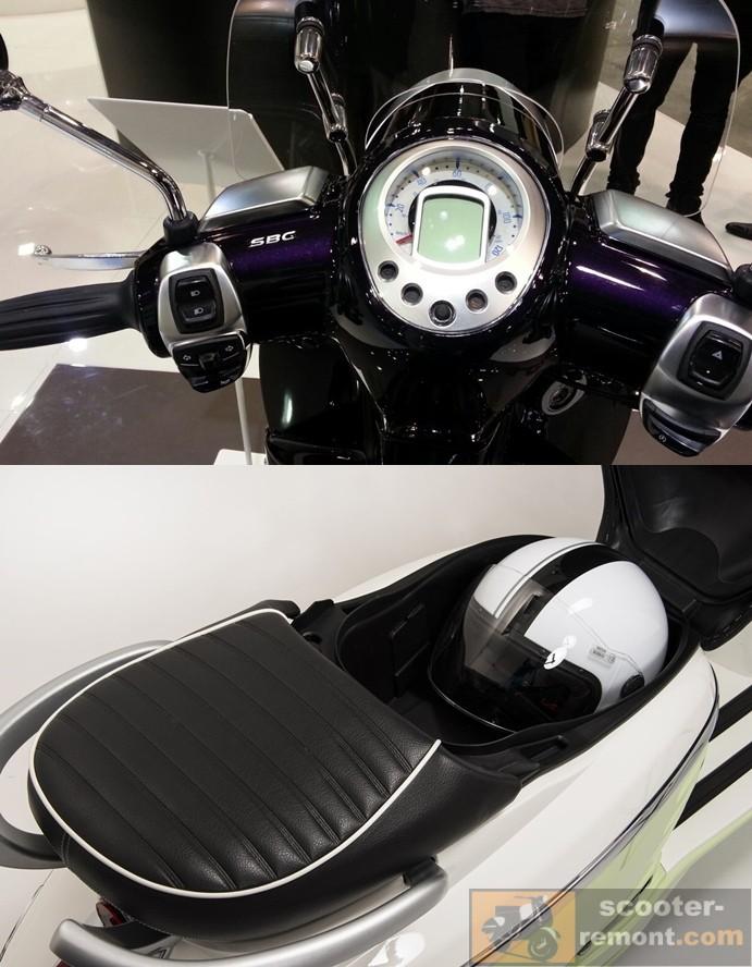 Приборная панель и сиденье скутера Django