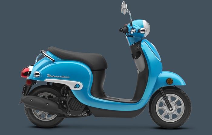 Голубой Honda Metropolitan 2016