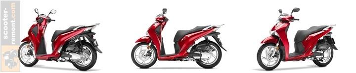 Обзор внешнего вида скутера Honda SH 125 2017