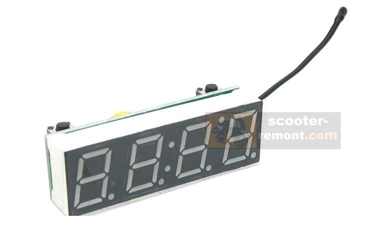 Часы на скутер с синей индикацией из китая